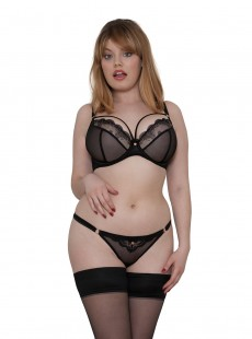 Culotte ajourée Surrender Noir - Scantilly Lingerie