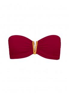 Haut de maillot de bain Bandeau Bijou Bordeaux - Color Mix