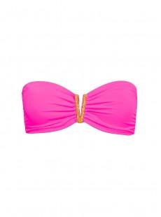 Haut de maillot de bain Bandeau Bijou Rose fluo - Color Mix