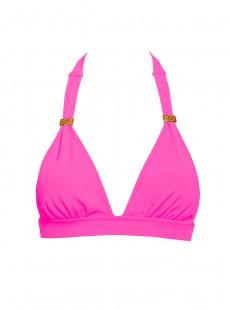 Haut de maillot de bain Triangle Rose fluo - Color Mix - Phax
