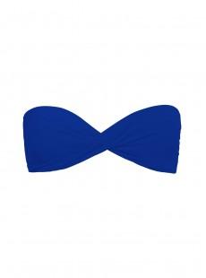 Haut de maillot de bain bandeau Twist Bleu Electrique - Color Mix