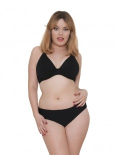Culotte à revers Jetty Noir - Curvy Kate Swimwear
