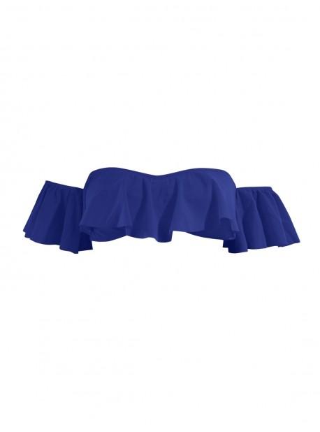De Bain Dénudées Épaules Phax Maillot Bandeau Haut Bleu Color Mix 3Rj5AL4