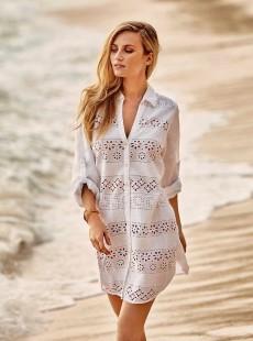 Robe de plage chemise blanche - Positano - Iconique