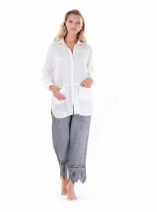 Chemise manches longues blanche - Positano - Iconique