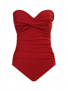"Maillot de bain gainant Madrid Rouge - Rock Solid - ""M"" -Miraclesuit Swimwear"