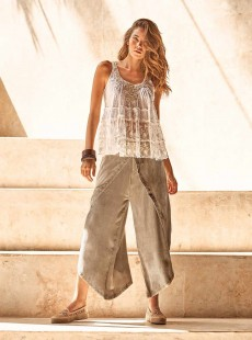 Pantalon large sable - Almafi - Iconique