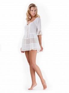 Robe courte trapeze blanc - Almafie - Iconique