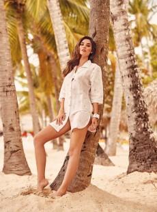 Robe chemise Blanche - Portofino - Iconique