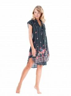 Robe chemise  sans manche Multicolore - Flora - Iconique