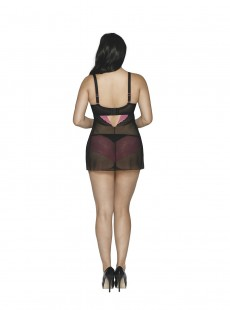 Nuisette In Love With Lace Noir / Rose - Curvy Kate Lingerie