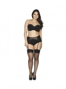 Culotte taille haute Deluxe Noir Amande - Curvy Kate Lingerie