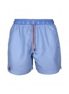 Short de bain bleu clair rayures Classic - Anchor - Palmacea