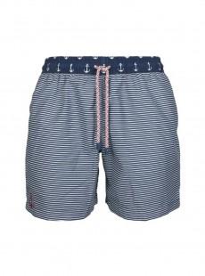 Short de bain bleu marine rayures Classic - Anchor - Palmacea