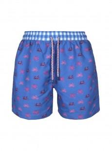 Short de bain bleu Classic - Crabs - Palmacea