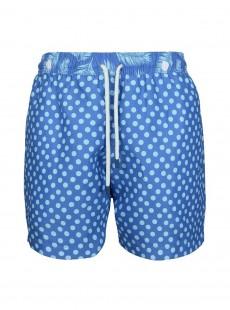 Short de bain bleu marine pois bleus Classic - Dots - Palmacea