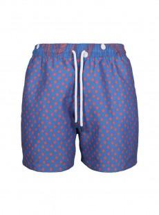 Short de bain bleu marine pois rouges Classic - Dots - Palmacea