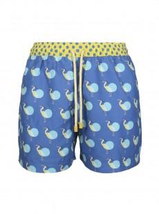 Short de bain bleu clair Classic - Polka Heron - Palmacea