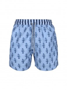 Short de bain bleu clair Classic - Lobsters - Palmacea