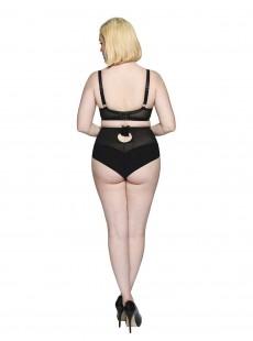 Culotte Taille Haute Velvet Rose Black/Sliver - Scantilly Lingerie