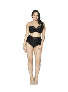 Haut de maillot de bain Bandeau Sheer Class noir - Curvy Kate Swimwear