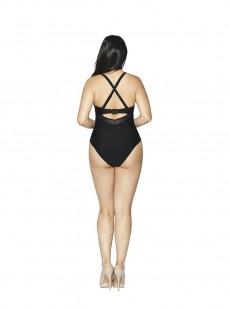 Maillot de bain 1 pièce Sheer Class noir - Curvy Kate Swimwear