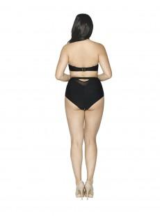 Culotte de bain taille haute Sheer Class noir - Curvy Kate Swimwear
