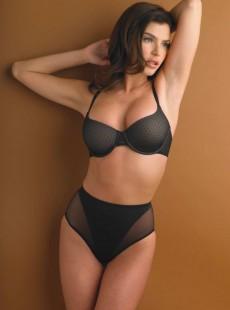 Culotte gainante haute noire extra-ferme - Sensual Sheer Shapers - Naomi & Nicole