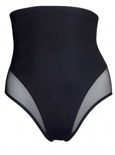 Culotte taille extra-haute noire - Sensual Sheer Shapers - Naomi & Nicole