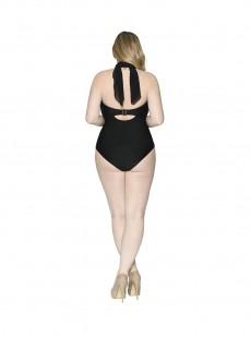 Maillot de bain 1 pièce Bandeau multi-options Wrapsody Black - Curvy Kate Swimwear