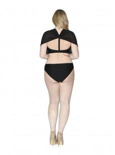 Culotte de bain Classique Wrapsody Black - Curvy Kate Swimwear