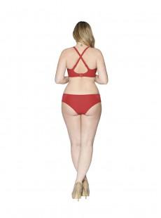Haut de maillot balconnet Sheer Class Rouge - Curvy Kate Swimwear