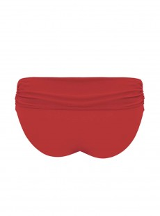 Culotte de bain à revers Sheer Class Rouge - Curvy Kate Swimwear