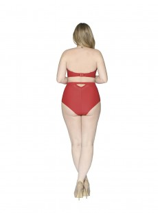 Culotte de bain taille haute Sheer Class Rouge - Curvy Kate Swimwear