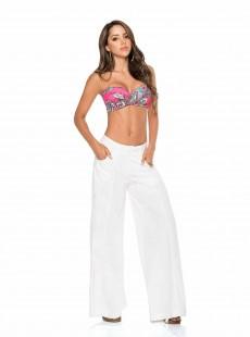 Pantalon coupe palazzo Blanc