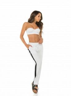 Pantalon effet jogging Blanc