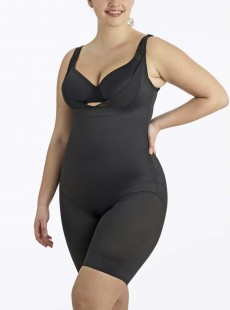 Combinaison torsette gainante Noire - Flexible Fit - Miraclesuit Shapewear