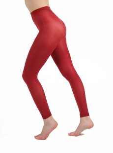 Collants Style Legging 50 Deniers rouge - Pamela Mann