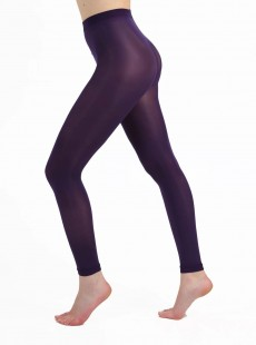 Collants Style Legging 50 Deniers Violet - Pamela Mann