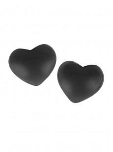 Caches Tétons Adhésifs Coeur Noir - Fashion Essentials - Secret Weapons