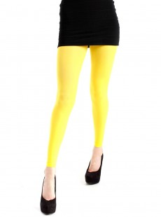 Collants Style Legging 50 Deniers Jaune - Pamela Mann