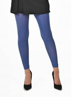 Collants Style Legging 50 Deniers Bleu - Pamela Mann