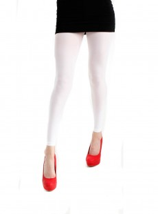 Collants Style Legging 50 Deniers Blanc - Pamela Mann