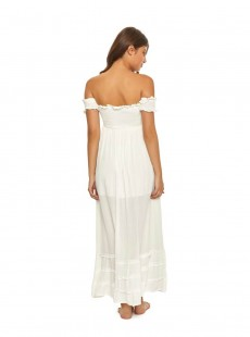 Robe de plage Longue bustier Water Lily Mishell Blanc - Pily Q