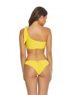 Brassière de bain asymétrique Marigold One shoulder Jaune - PilyQ