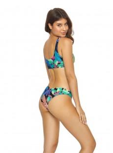 Culotte de bain Aralia Ruffle One Shoulder Imprimés fleuris - PilyQ