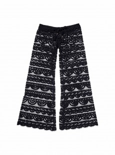 Pantalon long de plage en dentelle Must Haves Malibu Lace Noir - PilyQ