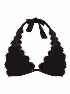 Haut de maillot de bain Triangle en dentelle Must Haves Lace Noir - PilyQ