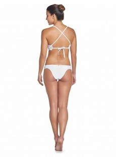 Culotte de bain en dentelle Must Haves Lace Blanc - PilyQ