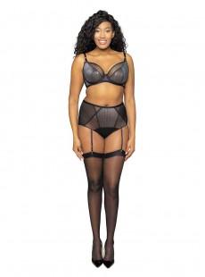 Culotte taille haute avec jaretelles Sparks Fly gris - Curvy Kate Lingerie